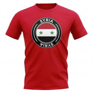Syria Football Badge T-Shirt (Red)