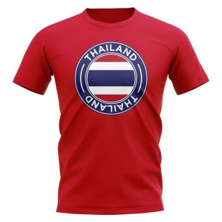 Thailand Football Badge T-Shirt (Red)