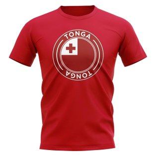 Tonga Football Badge T-Shirt (Red)