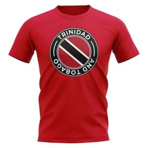 Trinidad and Tobago Football Badge T-Shirt (Red)