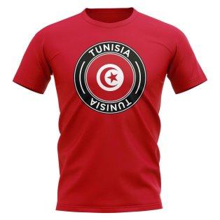 Tunisia Football Badge T-Shirt (Red)