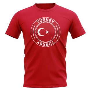 Turkey Football Badge T-Shirt (Red)