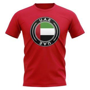 UAE Football Badge T-Shirt (Red)