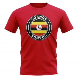 Uganda Football Badge T-Shirt (Red)