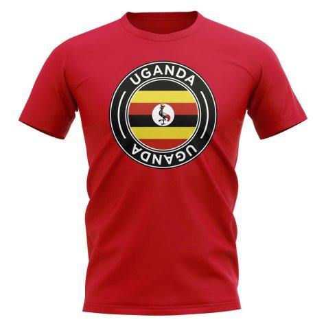 Uganda Football Badge T-Shirt (Red)