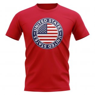 USA Football Badge T-Shirt (Red)