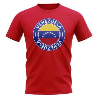 Venezuela Football Badge T-Shirt (Red)