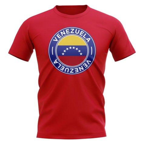 Venezuela Football Badge T-Shirt (Red)