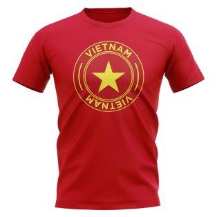 Vietnam Football Badge T-Shirt (Red)