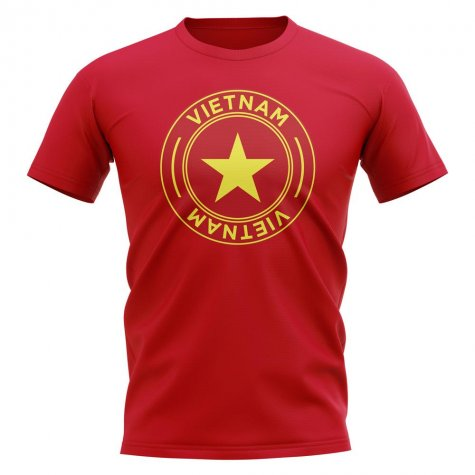 Vietnam Football Badge T-Shirt (Red)