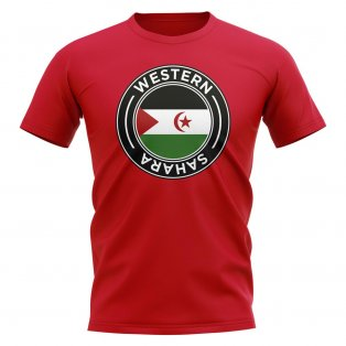 Western Sahara Football Badge T-Shirt (Red)