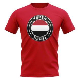 Yemen Football Badge T-Shirt (Red)