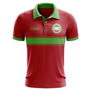 Burundi Concept Stripe Polo Shirt (Red)