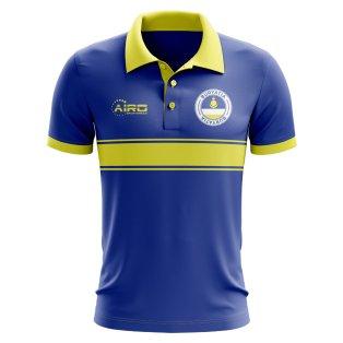 Buryatia Concept Stripe Polo Shirt (Blue)