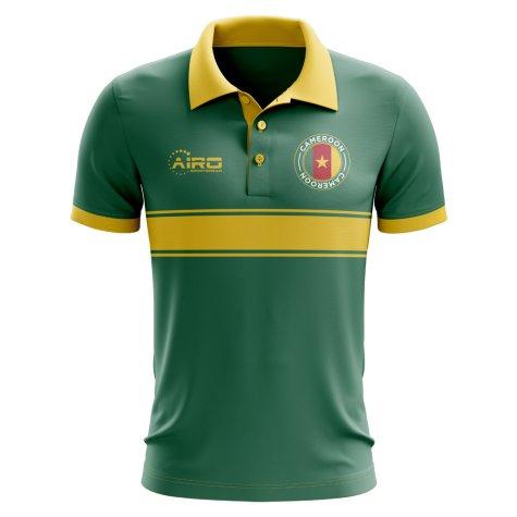 Cameroon Concept Stripe Polo Shirt (Green) - Kids