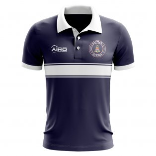 Cayman Islands Concept Stripe Polo Shirt (Navy)