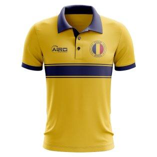 Chad Concept Stripe Polo Shirt (Yellow)