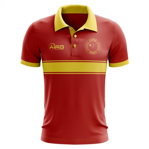 China Concept Stripe Polo Shirt (Red) - Kids