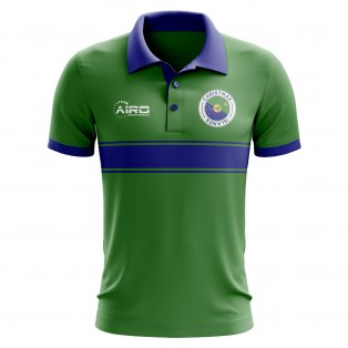 Christmas Islands Concept Stripe Polo Shirt (Green)