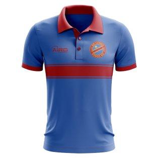 DR Congo Concept Stripe Polo Shirt (Blue) - Kids