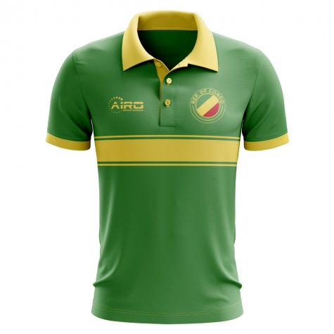 Congo Concept Stripe Polo Shirt (Green)