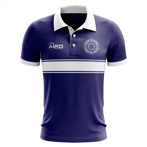 Cook Islands Concept Stripe Polo Shirt (Navy)