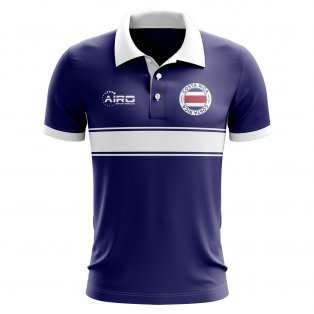 bac00e16c Costa Rica Concept Stripe Polo Shirt (Navy)