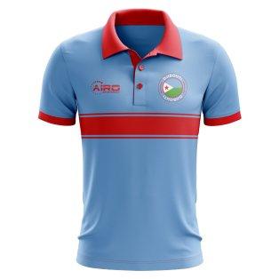 Djibouti Concept Stripe Polo Shirt (Sky)