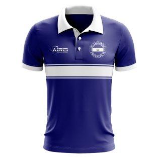 El Salvador Concept Stripe Polo Shirt (Blue)