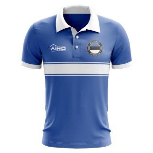 Estonia Concept Stripe Polo Shirt (Blue)