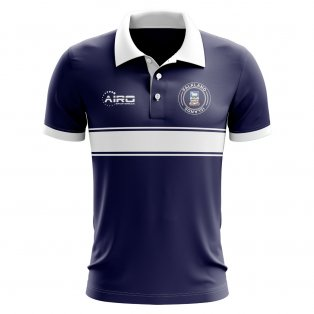 Falkland Islands Concept Stripe Polo Shirt (Navy)