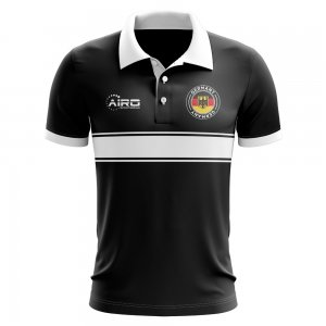 Germany Concept Stripe Polo Shirt (Black)