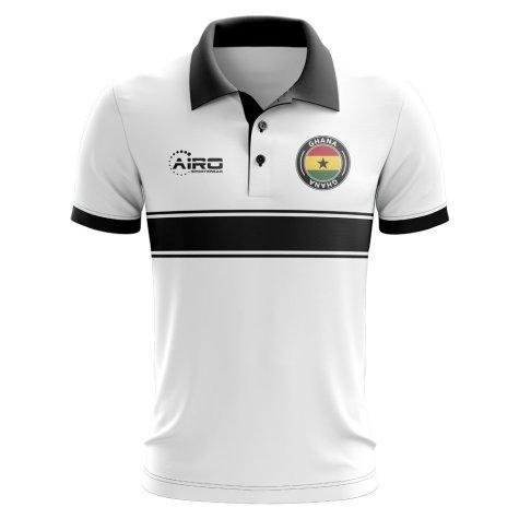 Ghana Concept Stripe Polo Shirt (White)