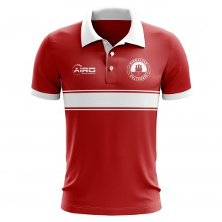 Gibraltar Concept Stripe Polo Shirt (Red) - Kids