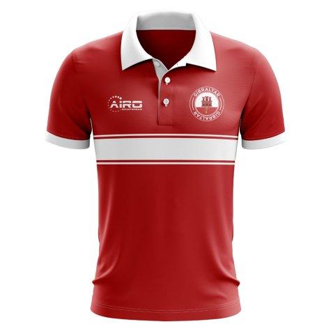 Gibraltar Concept Stripe Polo Shirt (Red)