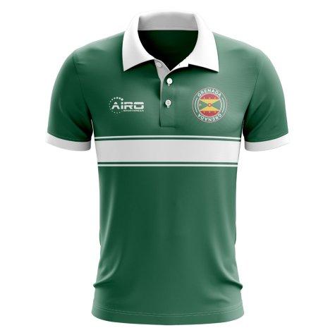 Grenada Concept Stripe Polo Shirt (Green)