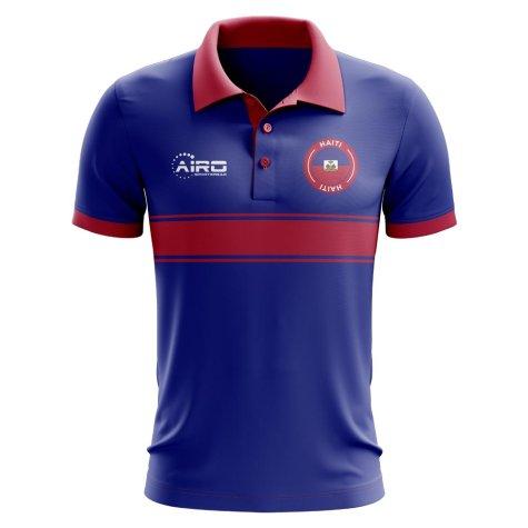Haiti Concept Stripe Polo Shirt (Blue)