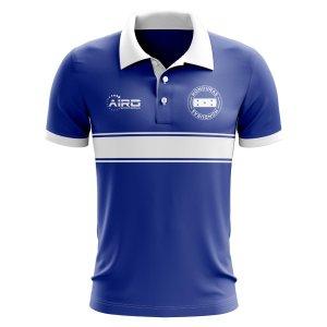 Honduras Concept Stripe Polo Shirt (Blue)