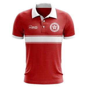 Hong Kong Concept Stripe Polo Shirt (Red)