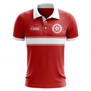 Hong Kong Concept Stripe Polo Shirt (Red)