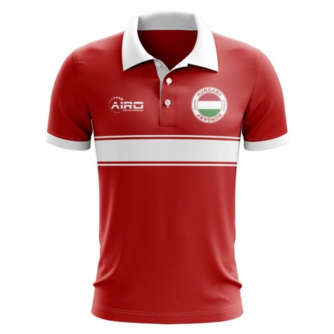 Hungary Concept Stripe Polo Shirt (Red)