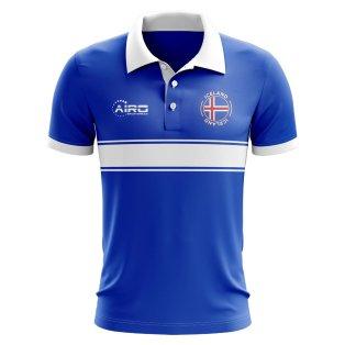 Iceland Concept Stripe Polo Shirt (Blue)