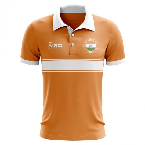 India Concept Stripe Polo Shirt (Orange) - Kids