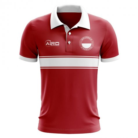Indonesia Concept Stripe Polo Shirt (Red)