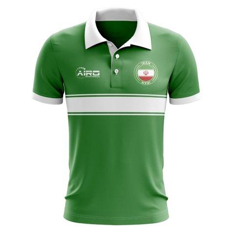 Iran Concept Stripe Polo Shirt (Green)