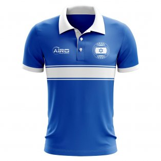 Israel Concept Stripe Polo Shirt (Blue)