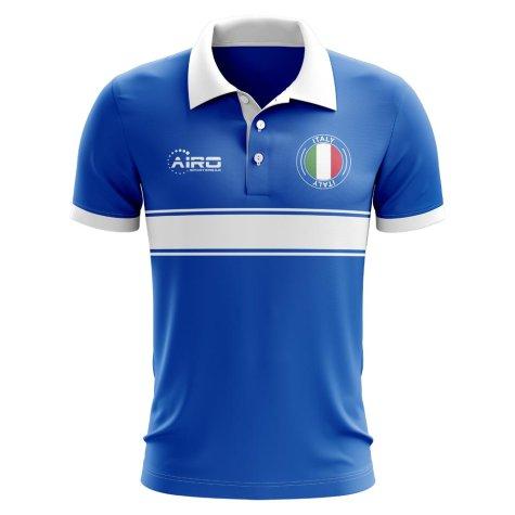Italy Concept Stripe Polo Shirt (Blue)