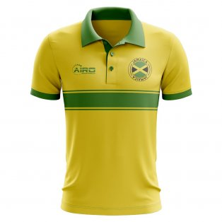 Jamaica Concept Stripe Polo Shirt (Yellow)