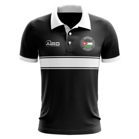 Jordan Concept Stripe Polo Shirt (Black)