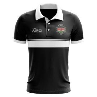Kenya Concept Stripe Polo Shirt (Black)